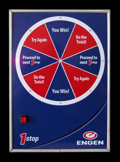 Engen Win & Spin: Size A4, 8 segments, 1 light/segment.