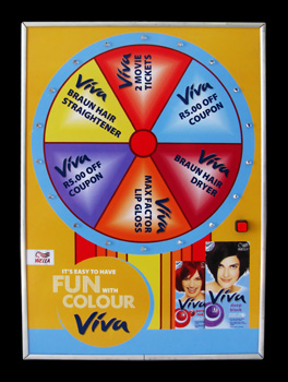 Viva Win & Spin: Size A3, 6 segments, 3 lights/segment.